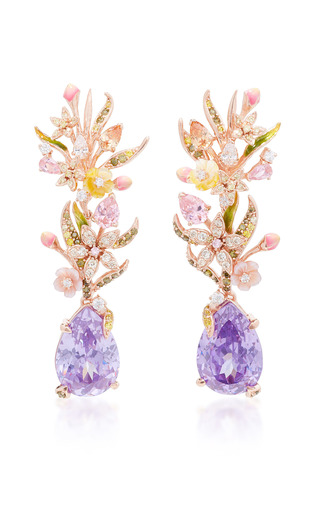 Medium anabela chan purple posie lilac earrings