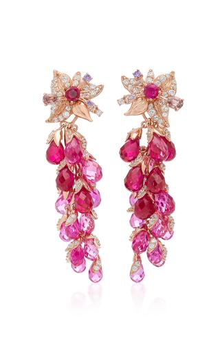 Medium anabela chan pink ruby coralbell earrings
