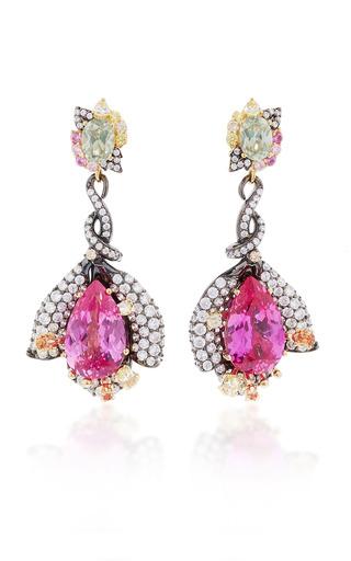 Medium anabela chan pink fuchsia sapphire earrings