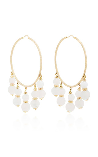 Medium carolina bucci white recharmed medium white beaded hoop earrings