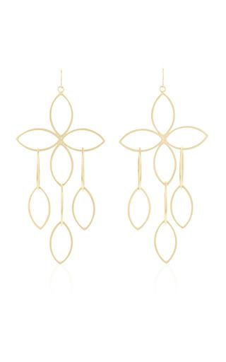 Medium lfrank gold open marquis flower cluster earrings