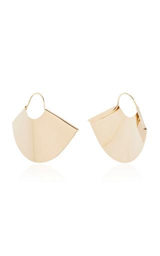 Medium kathleen whitaker gold fan earrings