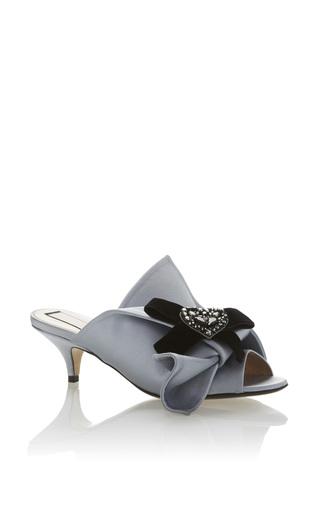 Medium no 21 blue raso kitten heel sandal