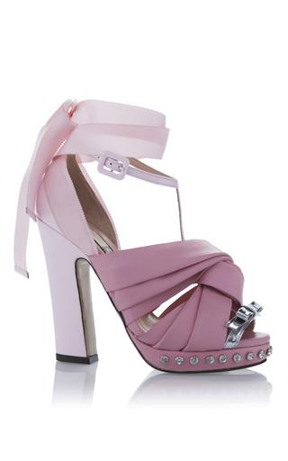 Medium no 21 pink rosa ribbon sandal