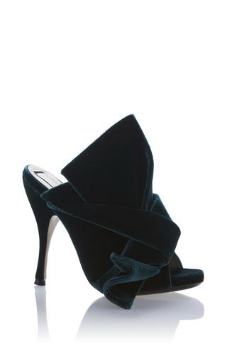 Medium no 21 green master velvet sandal