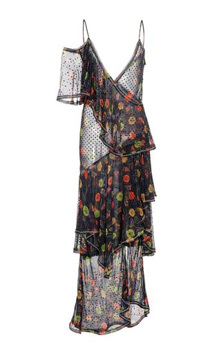 Medium jason wu black silk chiffon ruffle dress