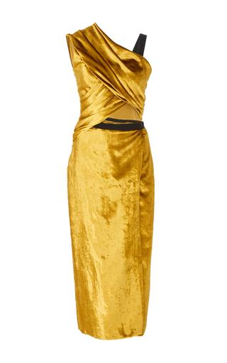 Medium jason wu neutral velvet draped cutout dress