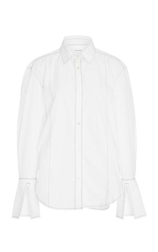 White Paneled Cotton Shirt by Frame Denim | Moda Operandi