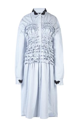 Medium simone rocha stripe beaded smocked shirt dress 2