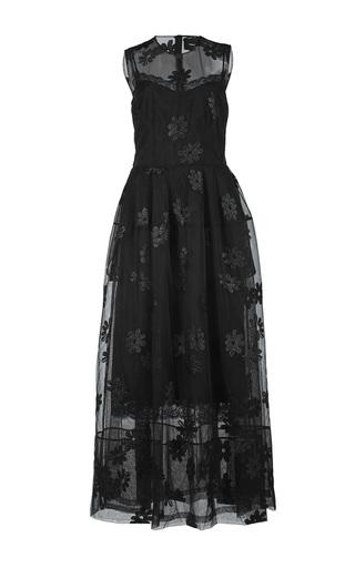 Medium simone rocha black embroidered sleeveless tulle bell dress