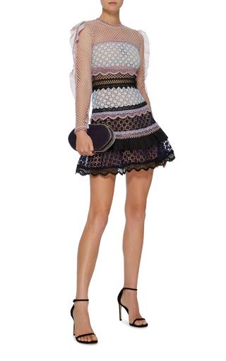 f7aeebaac00d Bellis Ruffled Lace Dress by Self Portrait | Moda Operandi