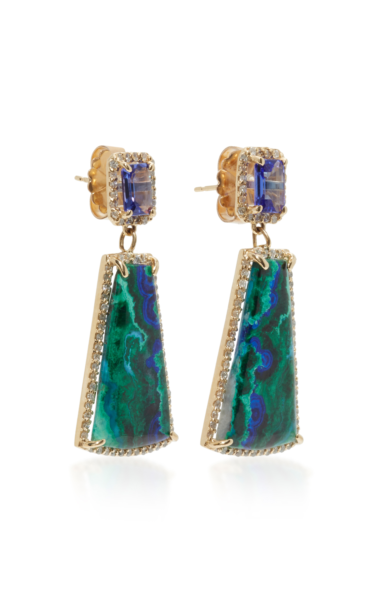 store rock earrings david webb unusual crystal