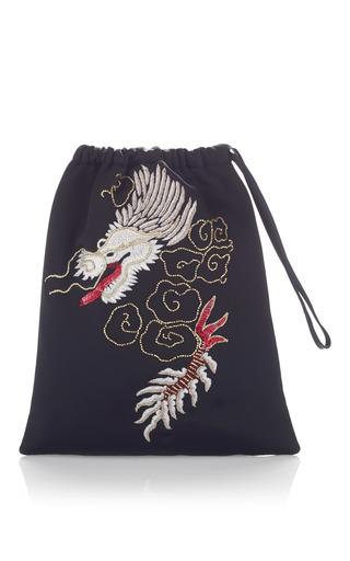 Medium attico black dragon pouch