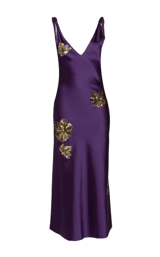 Medium attico purple serena beaded dress