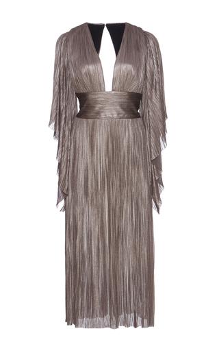 Medium maria lucia hohan metallic nadina metallic silk dress