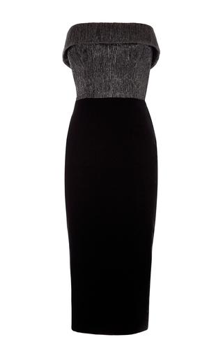 Medium alex perry black knox strapless cuff lady dress