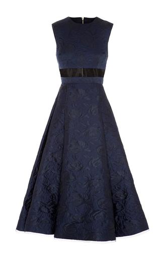 Medium alex perry navy payson floral brocade midi dress