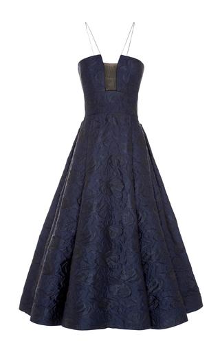 Medium alex perry navy aaron floral brocade midi dress