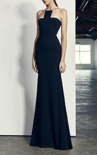 Medium alex perry black jamison halter gown