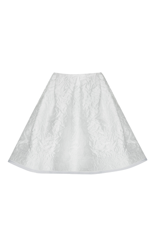 Medium alex perry white chase floral brocade pleat mini skirt