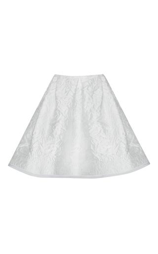 Medium alex perry white chase floral brocade pleat mini skirt