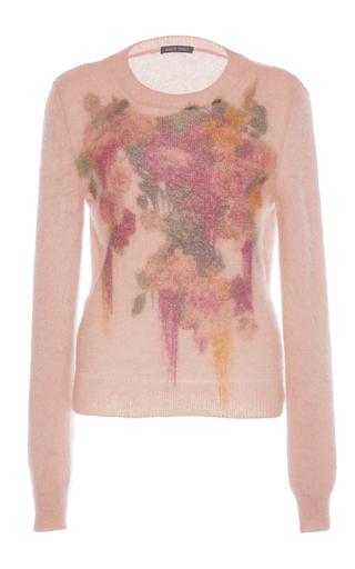 Medium alberta ferretti purple floral mohair sweater