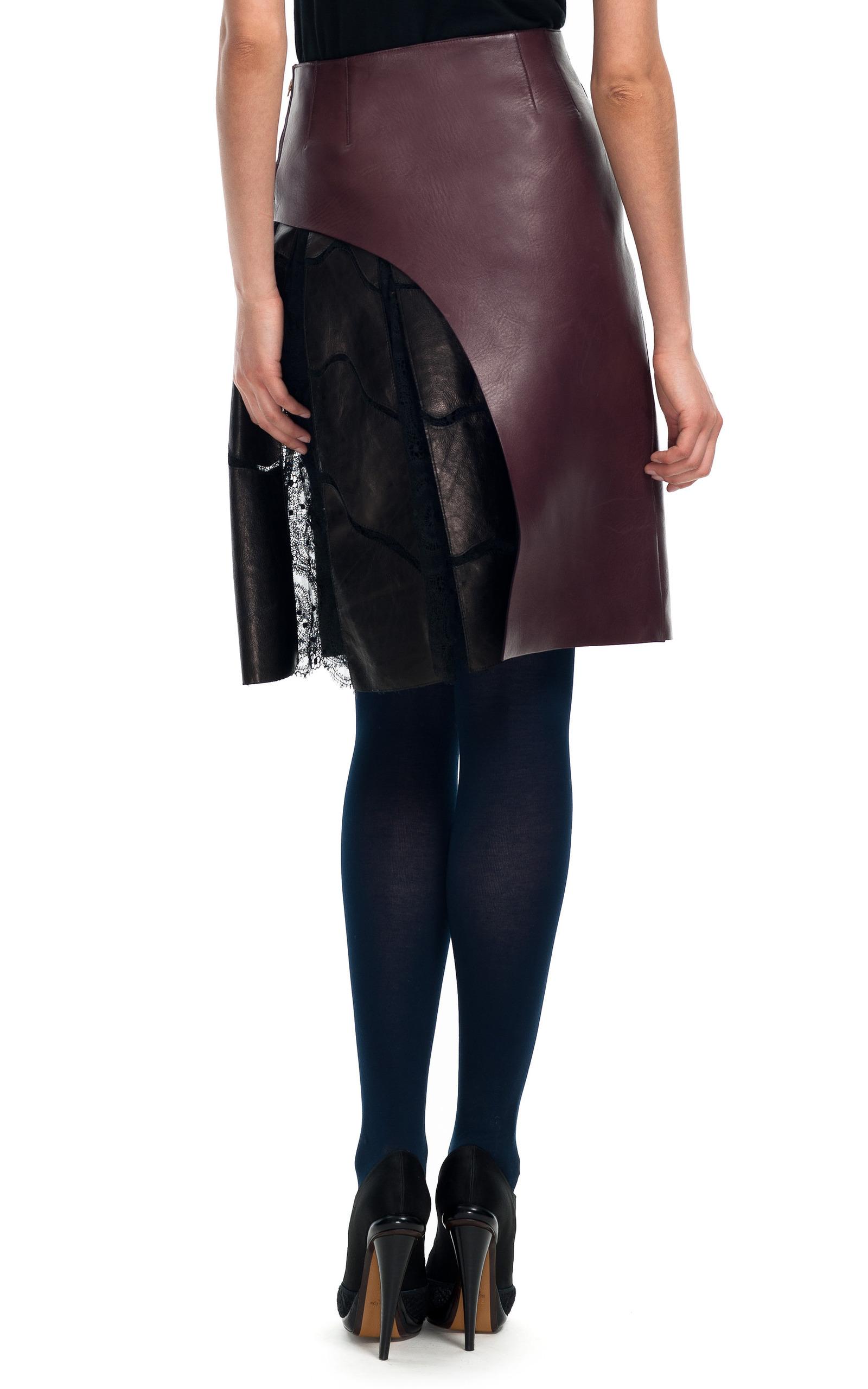bonded leather skirt by fendi moda operandi