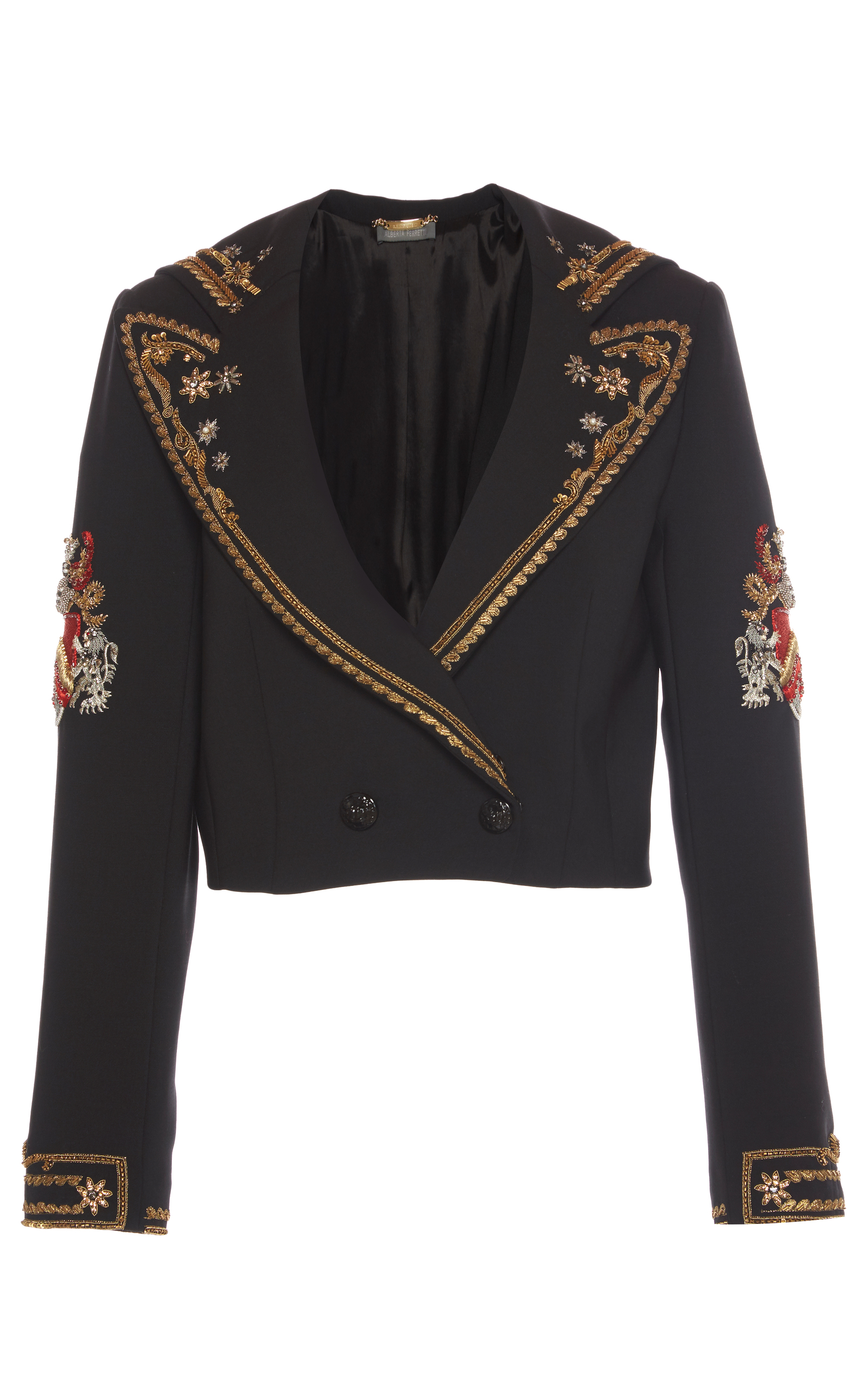 CROPPED EMBROIDERED JACKET