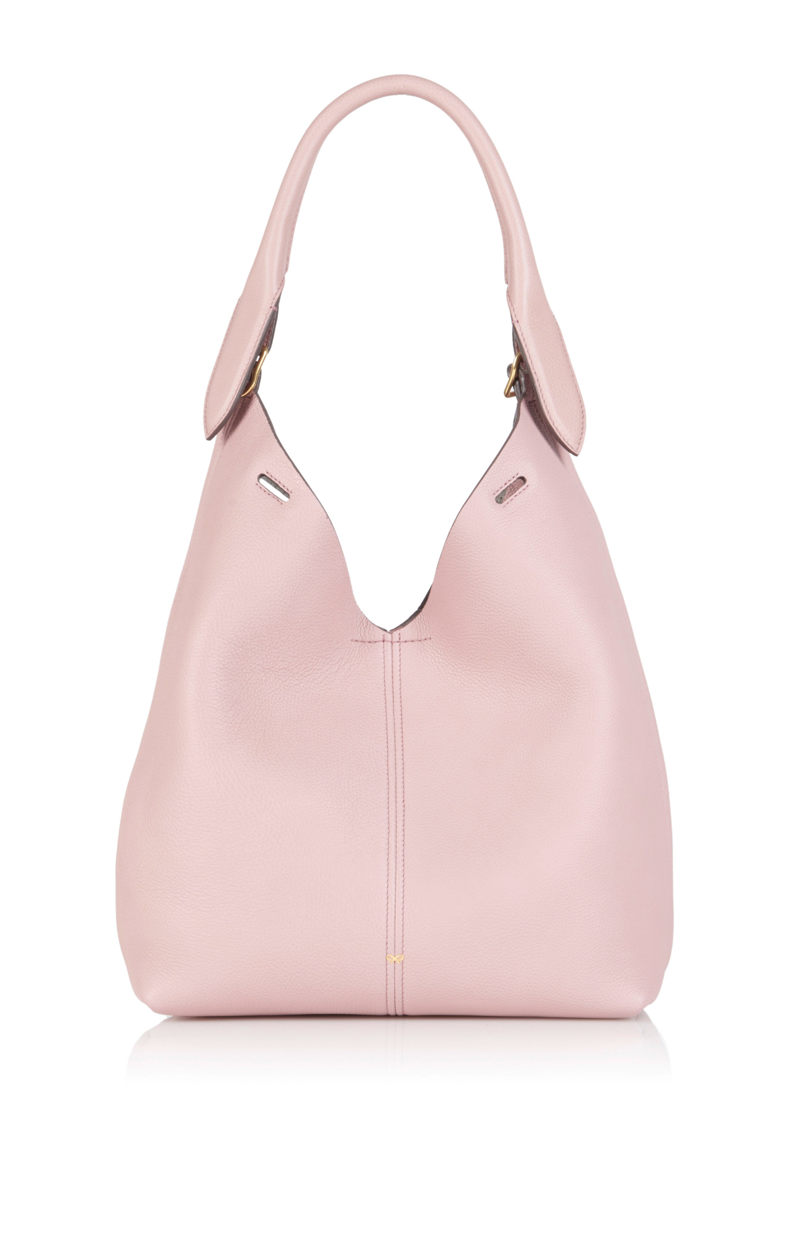 Rose Mini Grain Bucket Circle Bag by Anya Hindmarch