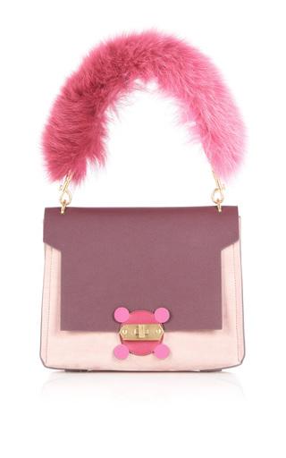 Medium anya hindmarch pink pink bathurst x bag with fox fur handle