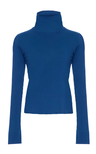 Medium simon miller blue ramos blue cowl neck sweater