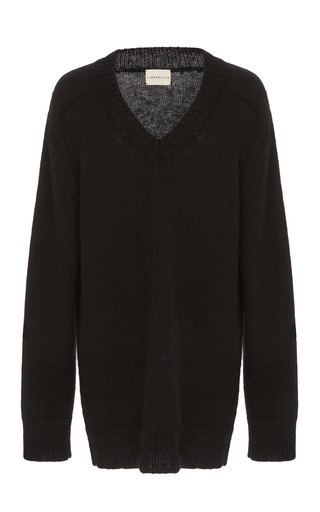 Medium simon miller black faro v neck sweater