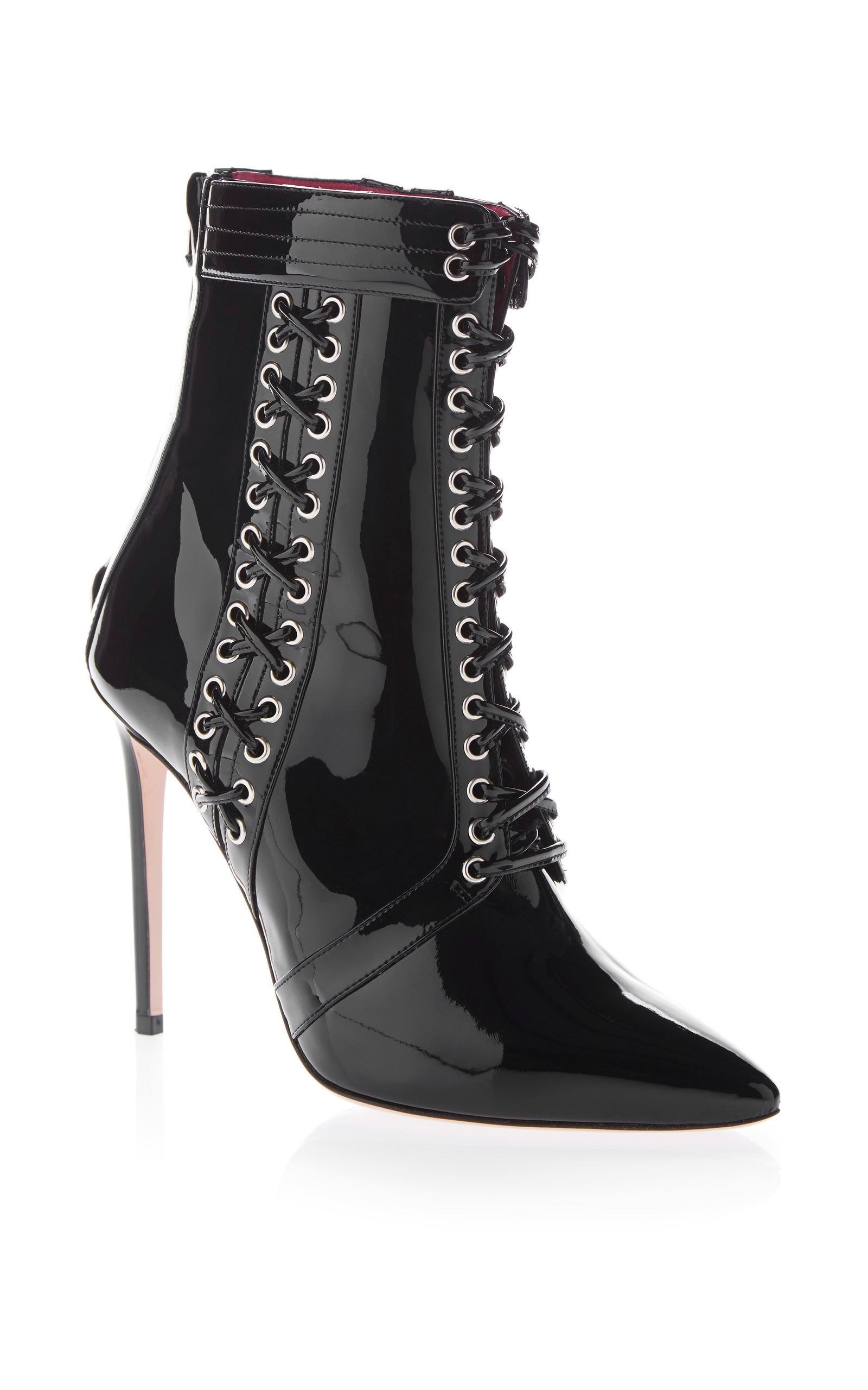 OSCAR TIYE Leather Lace Up Boots 9zeqcLR