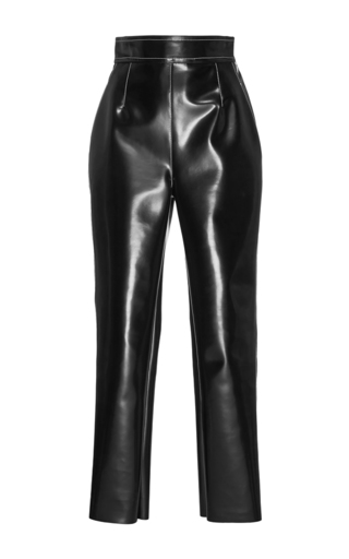 Medium philosophy di lorenzo serafini black straight leg eco leather pants