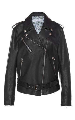 Medium philosophy di lorenzo serafini black leather moto jacket
