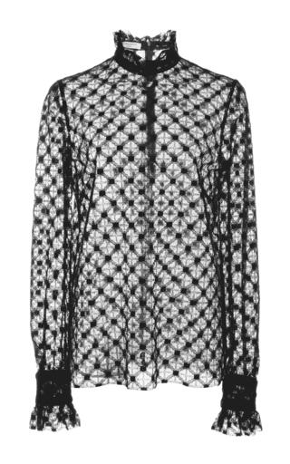 Medium philosophy di lorenzo serafini black geometrical lace top