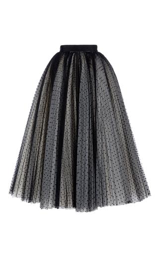 Medium philosophy di lorenzo serafini black flock full tulle skirt