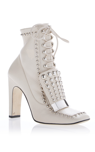 Medium sergio rossi white studded ankle boot