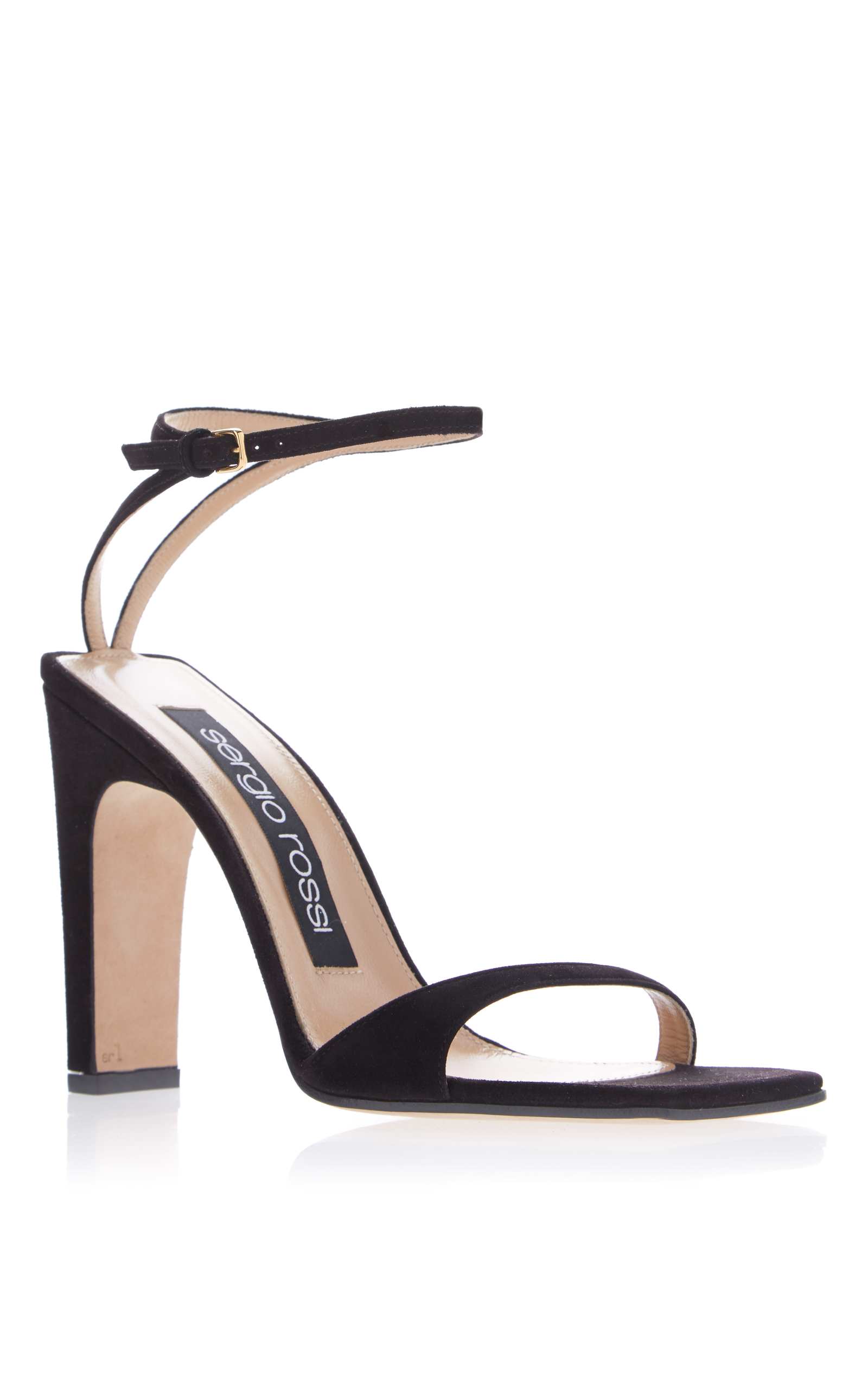 Sergio Rossi Patent Leather Slingback Sandals discount visit WNf6YZENG