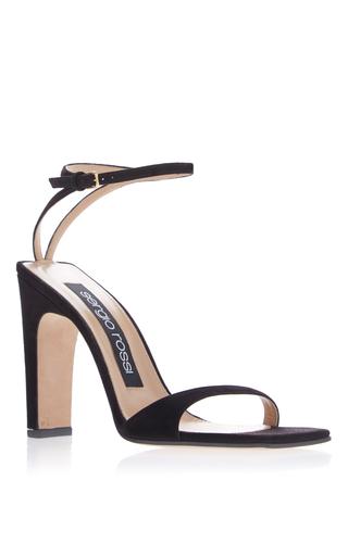 Medium sergio rossi black sqaure toe sandal