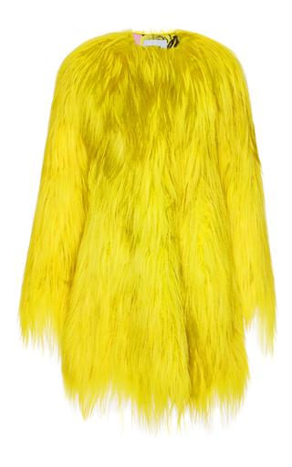 Medium msgm yellow kidassia fur coat