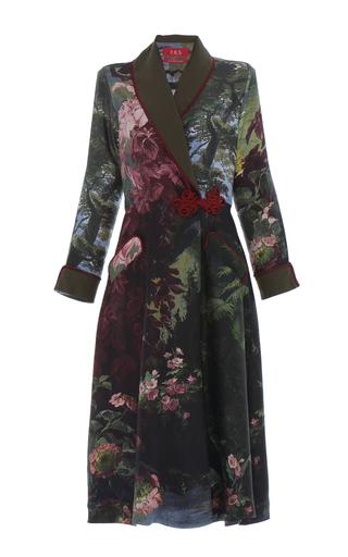 Medium for restless sleepers print forest landscape panacea robe dress