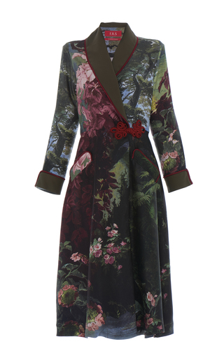 Medium for restless sleepers print forest landscape panacea robe dress