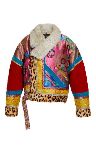 Medium etro print long sleeve bomber jacket