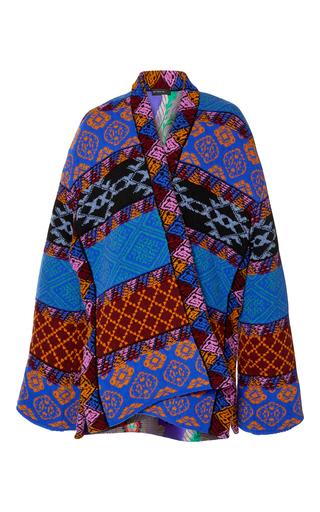 Medium etro multi knit cape jacket