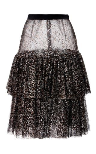 Medium rodarte print sparkle tulle tiered skirt