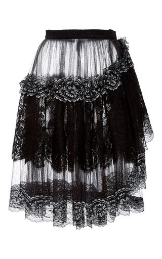 Medium rodarte black metallic lace and tulle skirt