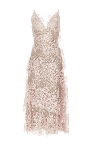 Medium rodarte pink lace v neck dress