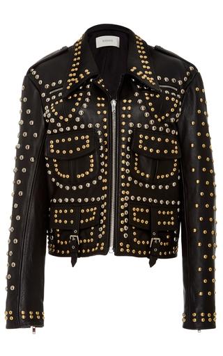 Medium rodarte black stud embellished cargo leather jacket
