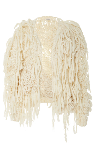 Medium rodarte white hand knit cardigan